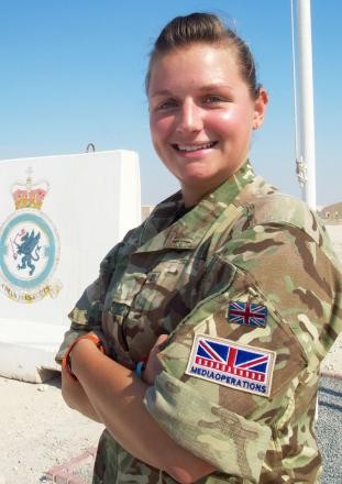 Flt Lt Rachael Lee has been commended for her work
