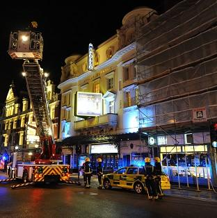 The celing collapsed at the Apollo Theatre in December 2