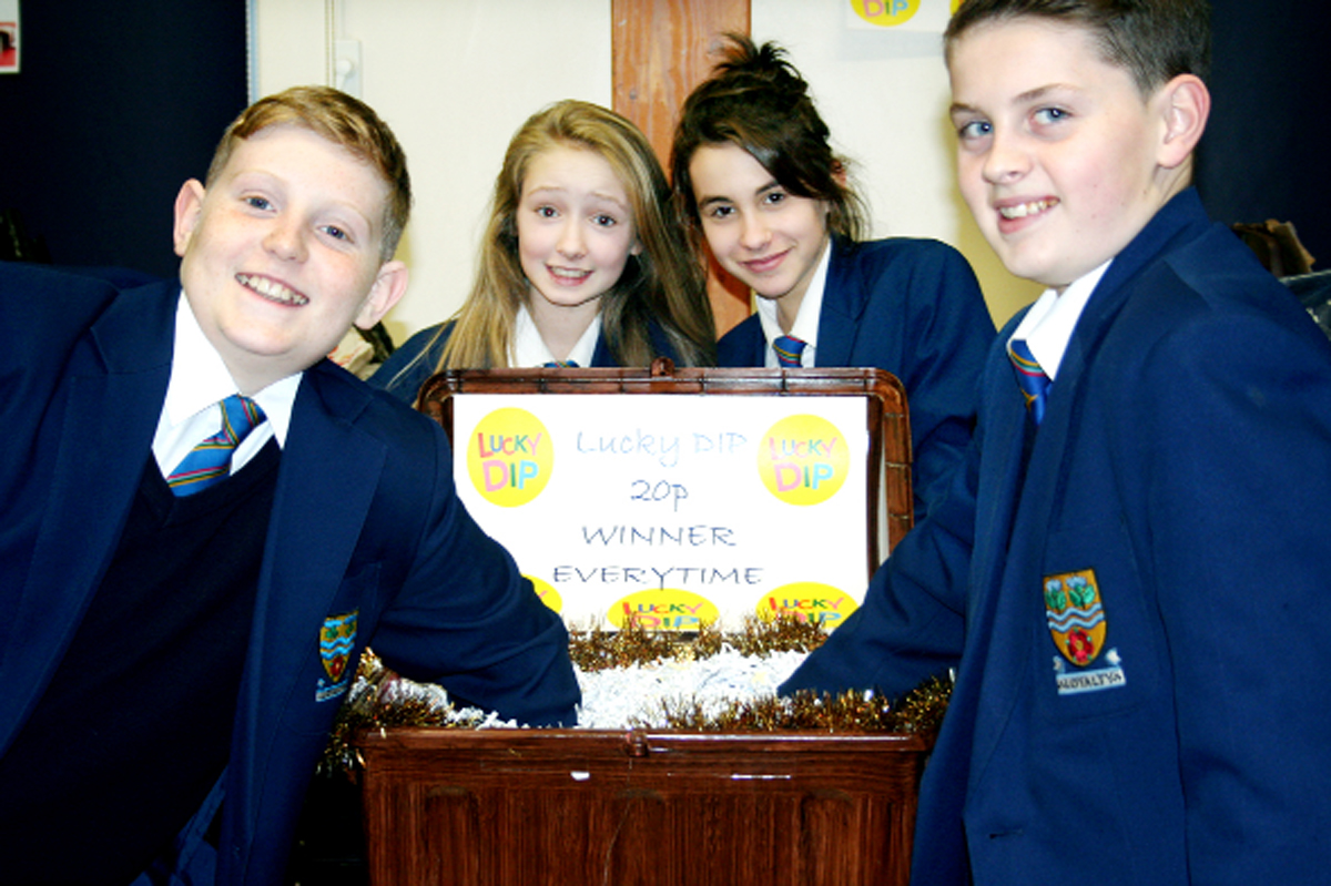 LOCAL CAUSE: Year 7 pupils enjoy one of the games at the event