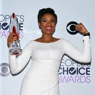 Jennifer Hudson with the award for favourite humanitarian