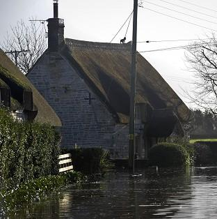 Properties near the village of Muchelney, Somerset, where residents have