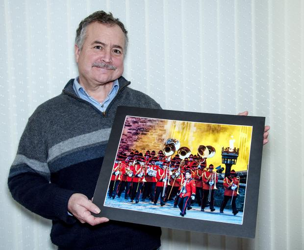 Colin Hampson with his winning photograph