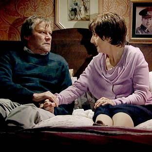 This Is Lancashire: Hayley and Roy Cropper, played by Julie Hesmondhalgh and David Neilson