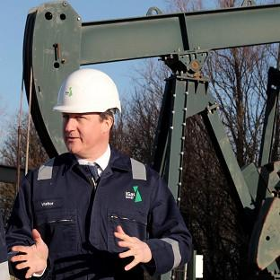 Prime Minister David Cameron visited the IGas shale drilling plant oil depot near Gainsboro