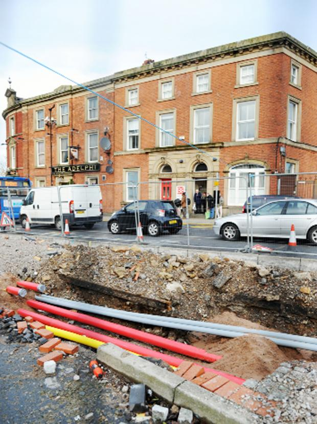 This Is Lancashire: Tram tracks below the surface