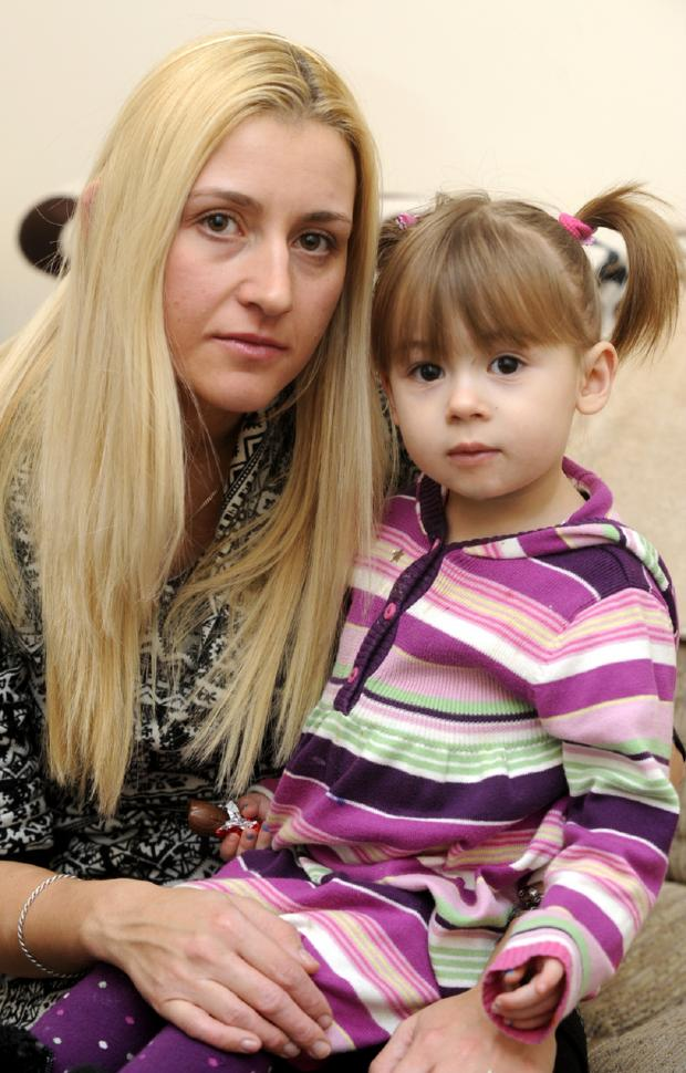 This Is Lancashire: Rebecca Rathmill and her two years old daughter, Lola