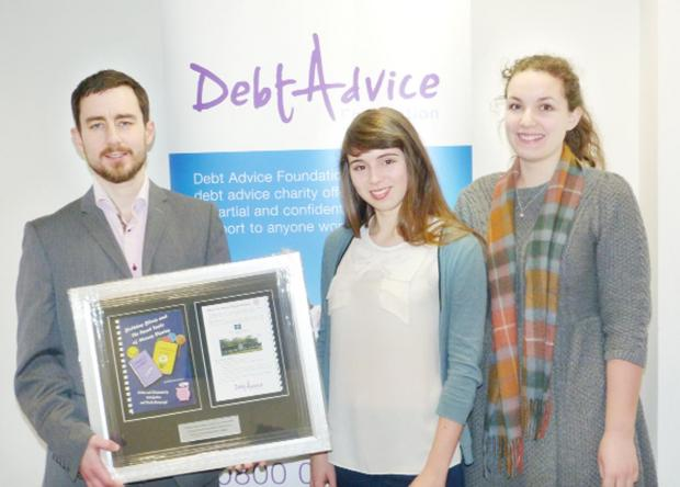 SURPRISE: Debt Advice Foundation chief executive David Rodger with Money Diaries authors Nicola Haresceugh (centre) and Ruth Gratton
