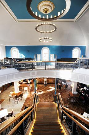 Inside the new JD Wetherspoon pub, The Old Chapel in Darwen