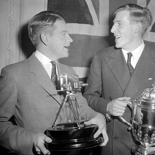 This Is Lancashire: Sir Christopher Chataway, left, with Roger Bannister, was BBC Sports Personality of the Year in 1954