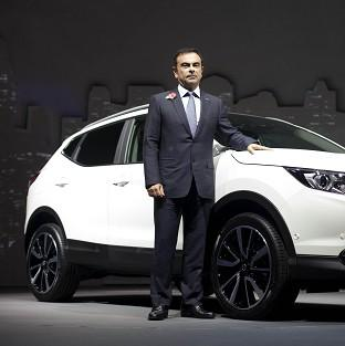 This Is Lancashire: Carlos Ghosn, CEO of Nissan, at the launch of Nissan's new Qashqai model