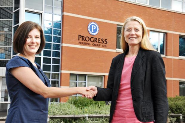 LINK UP: From left, Key's director, Ursula Pattern and Jacqui De-Rose, group chief executive for Progress Housing Group