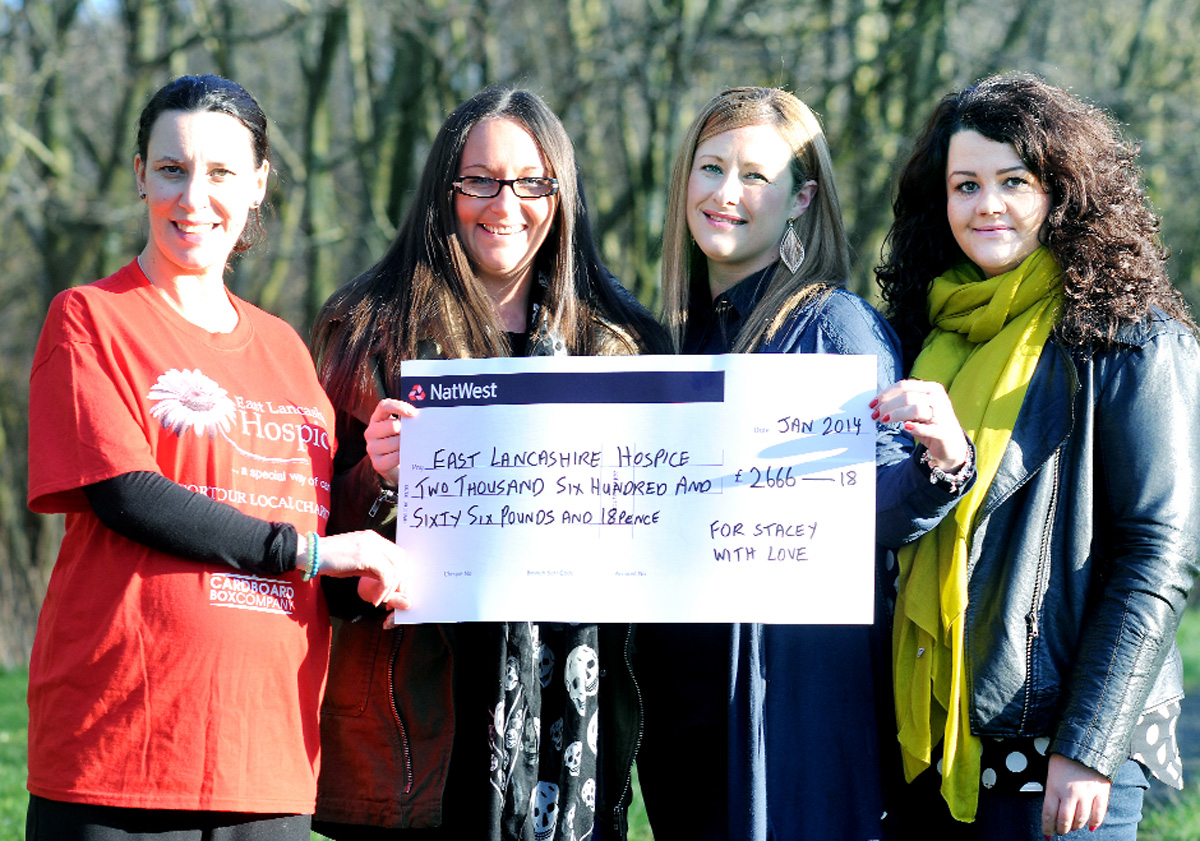 Blackburn pals go extra mile for Stacey