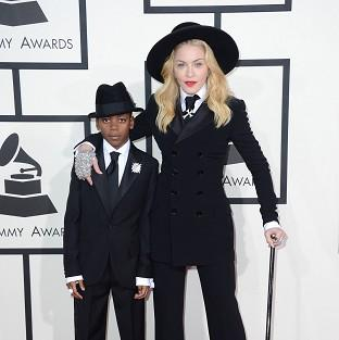 This Is Lancashire: Madonna and son David opted for matching outfits at the Grammys