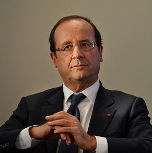 French President Francois Hollande is due to arrive in the UK on Friday