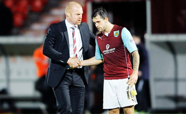 Sean Dyche and Danny Ings
