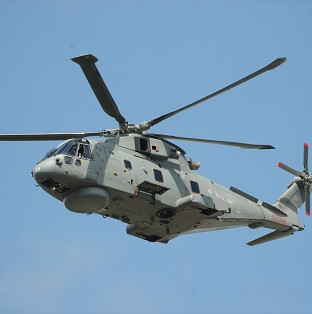 An AgustaWestland Merlin helicopter