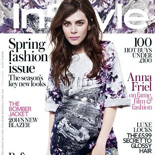 Anna Friel was photographed by Rankin for InStyle magazine