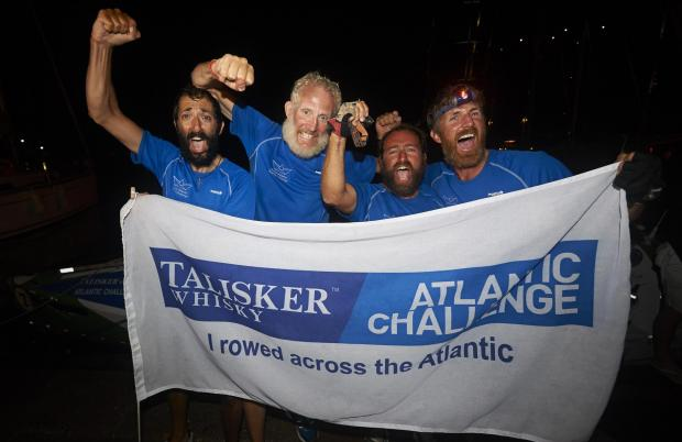 Hero's welcome for Atlantic Rowing team