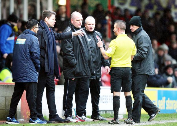 Stanley boss Beattie frustrated with referee's call