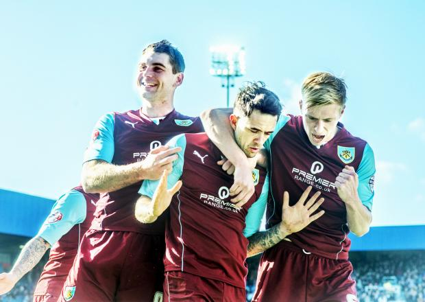 Sam Vokes joins Scott Arfield in celebrating Danny Ings' opener on Saturday