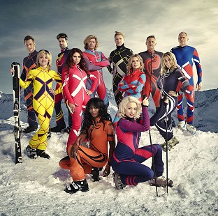 Anthea Turner and Five singer Ritchie Neville were eliminated from The Jump