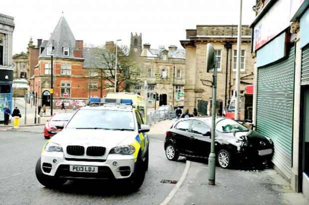 This Is Lancashire: The scene of the collision