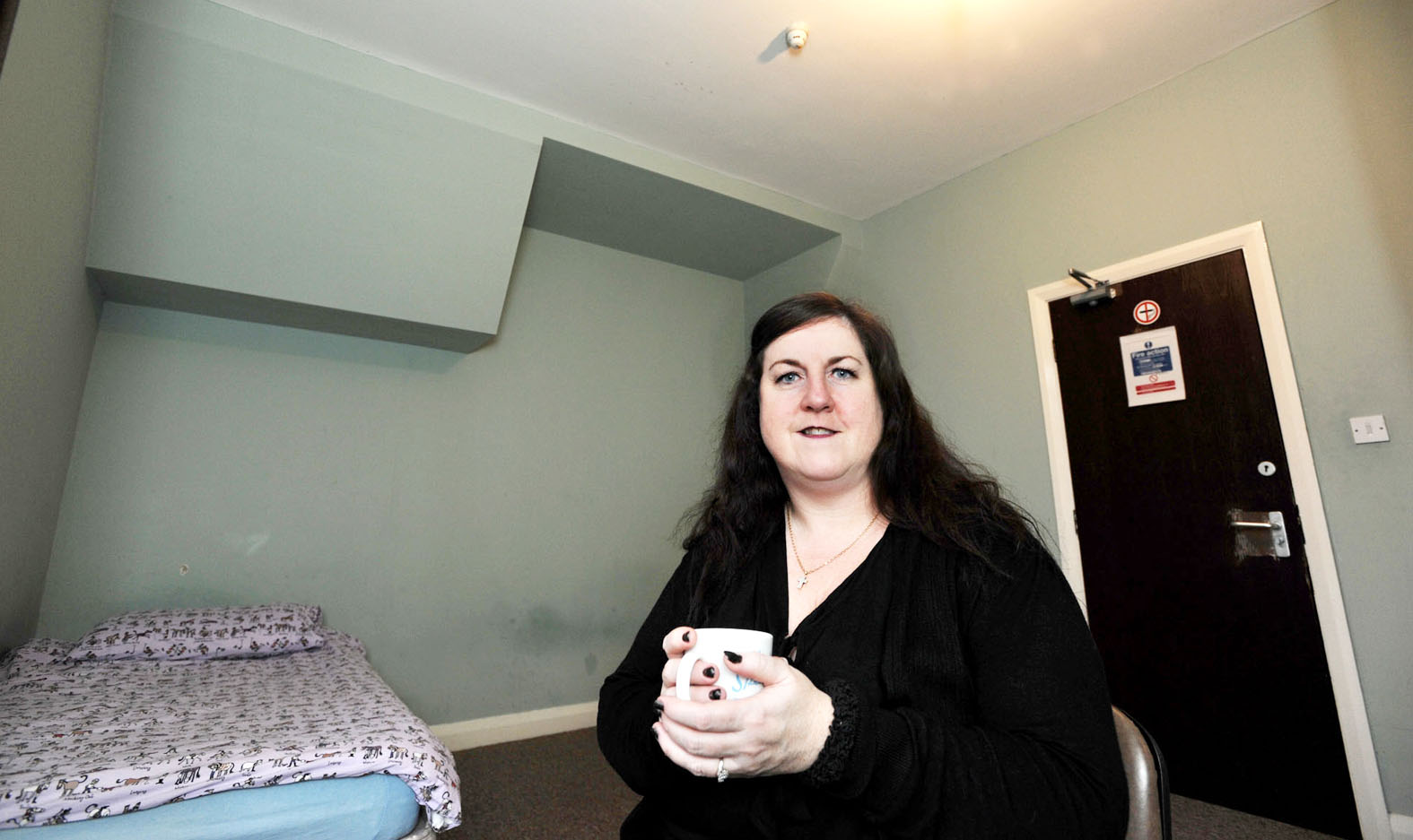 Maura Jackson in the accommodation for the homeless