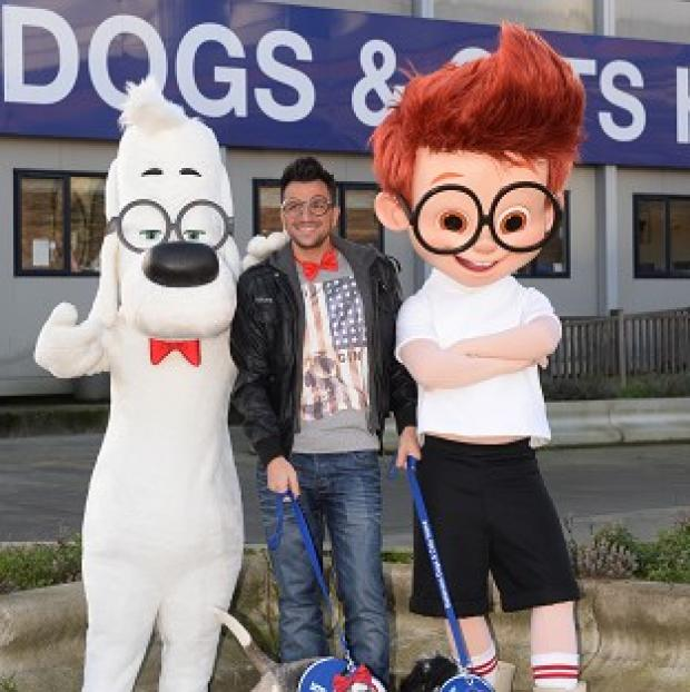 This Is Lancashire: Peter Andre named two dogs at Battersea Dogs and Cats Home after the two lead characters in the film Mr Peabody and Sherman