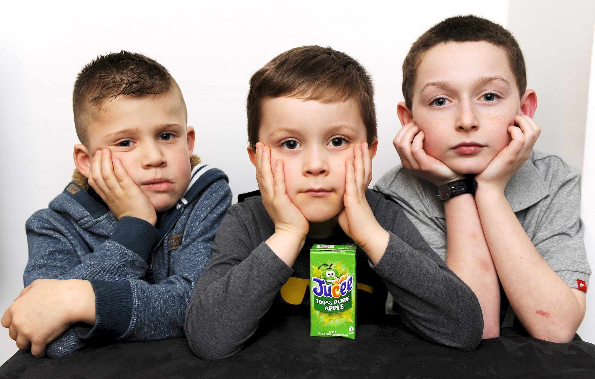 A DAY out at a play centre turned sour for these three disappointed youngsters, from left, Sam Crutchley, aged seven, Luke Marsh, aged five, and Josh Taylor, aged 10