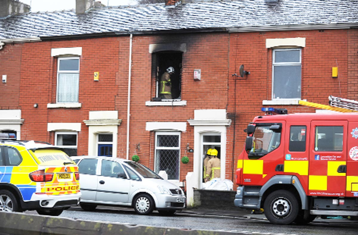 Firecrews at the scene in Bolton Road