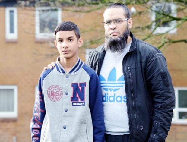 This Is Lancashire: Tahir Hussain and son Binyameen