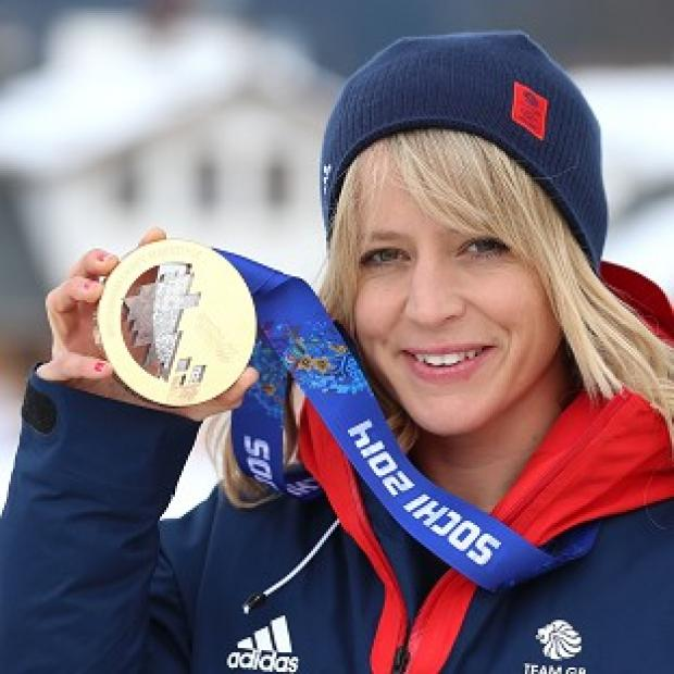 This Is Lancashire: Jenny Jones with her bronze medal