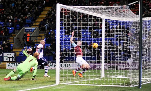 This Is Lancashire: Sam Vokes scores the winner