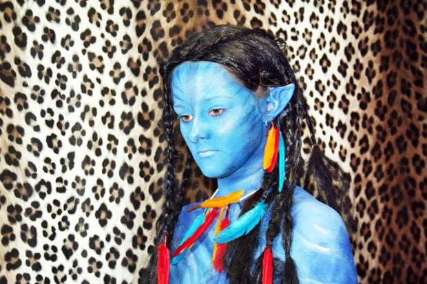 Model Grace Evans-Hughes as an Avatar character
