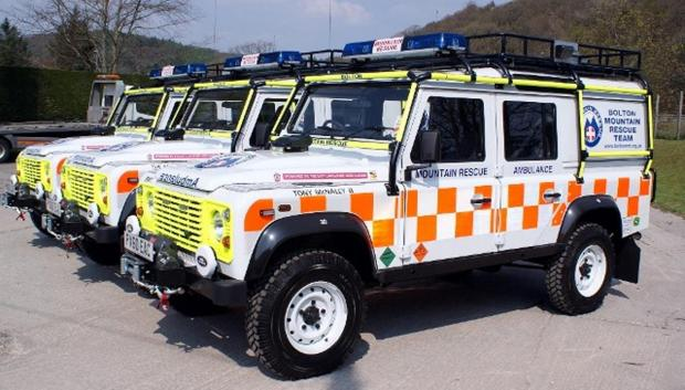The rescue vehicles
