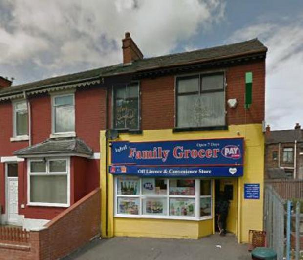 Family Grocers and Off Licence in Bury. Picture from Google Maps.