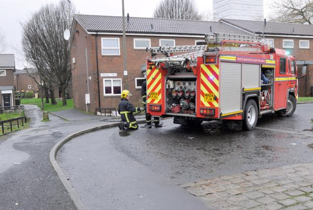 This Is Lancashire: Firefighters at Felton Walk