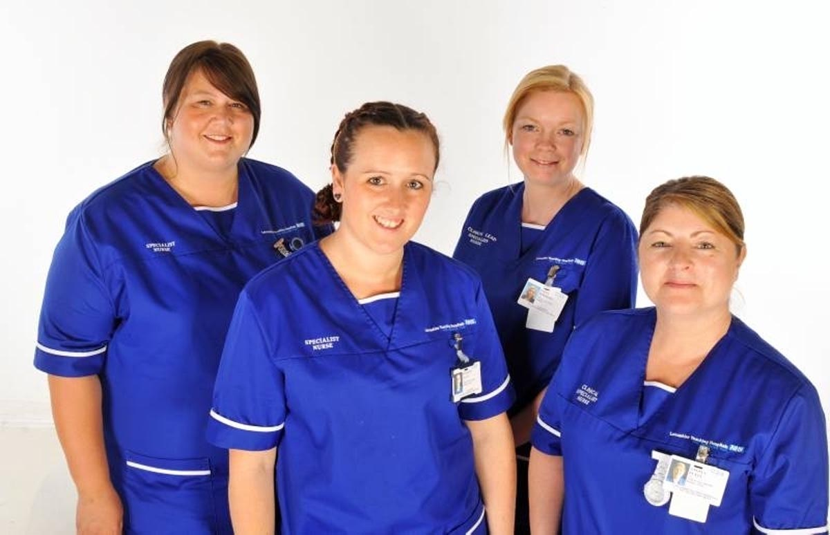 IN LINE: The alcohol team which works in Chorley