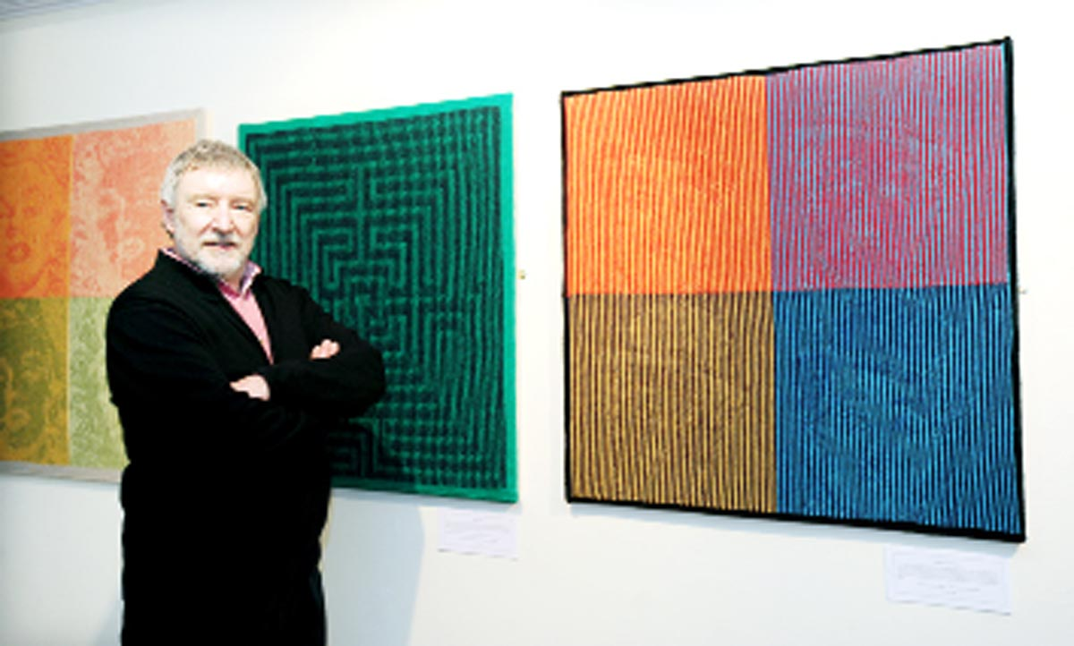 Steve Plummer with his knitwork