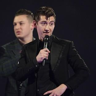 Alex Turner claims he was nervous while giving his acceptance speech at the Brits