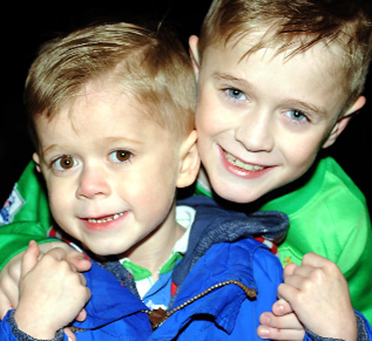 Noah McGibbon, eight, and three-year-old brother Jayden