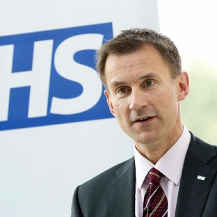 Hunt backs dissolution of NHS trust