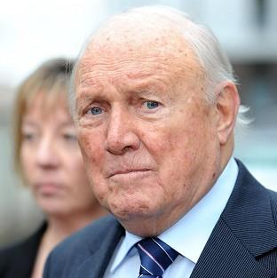 Stuart Hall has pleaded not guilty to raping two young girls