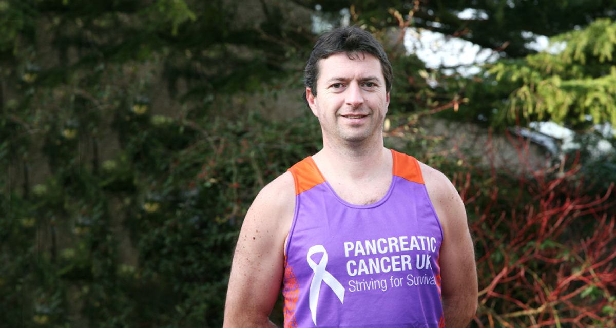 Dr Paul Fourie who is doing the London Marathon to raise money for research into pancreatic cancer, which killed his friend Dr Michael Barsby