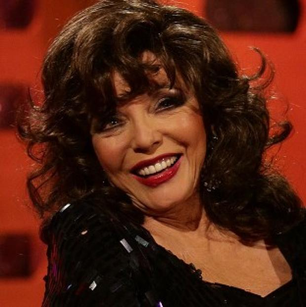 This Is Lancashire: Joan Collins said it takes her half an hour to put on 'a full face with lashes'