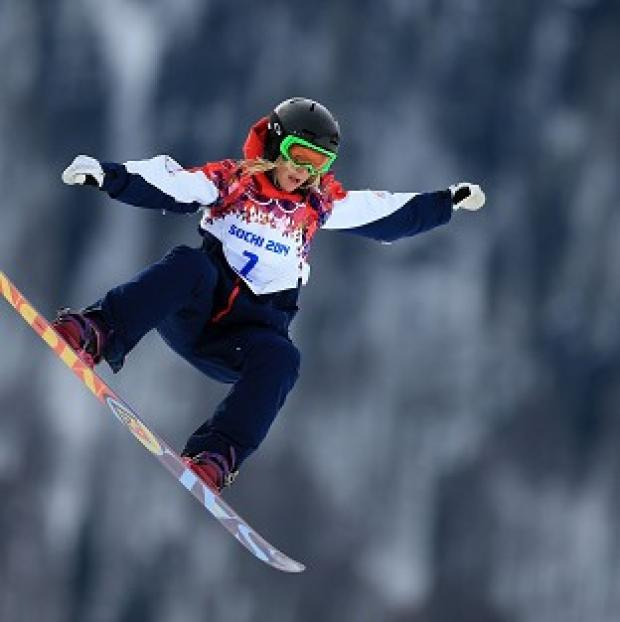 This Is Lancashire: Jenny Jones won a bronze medal in Sochi.