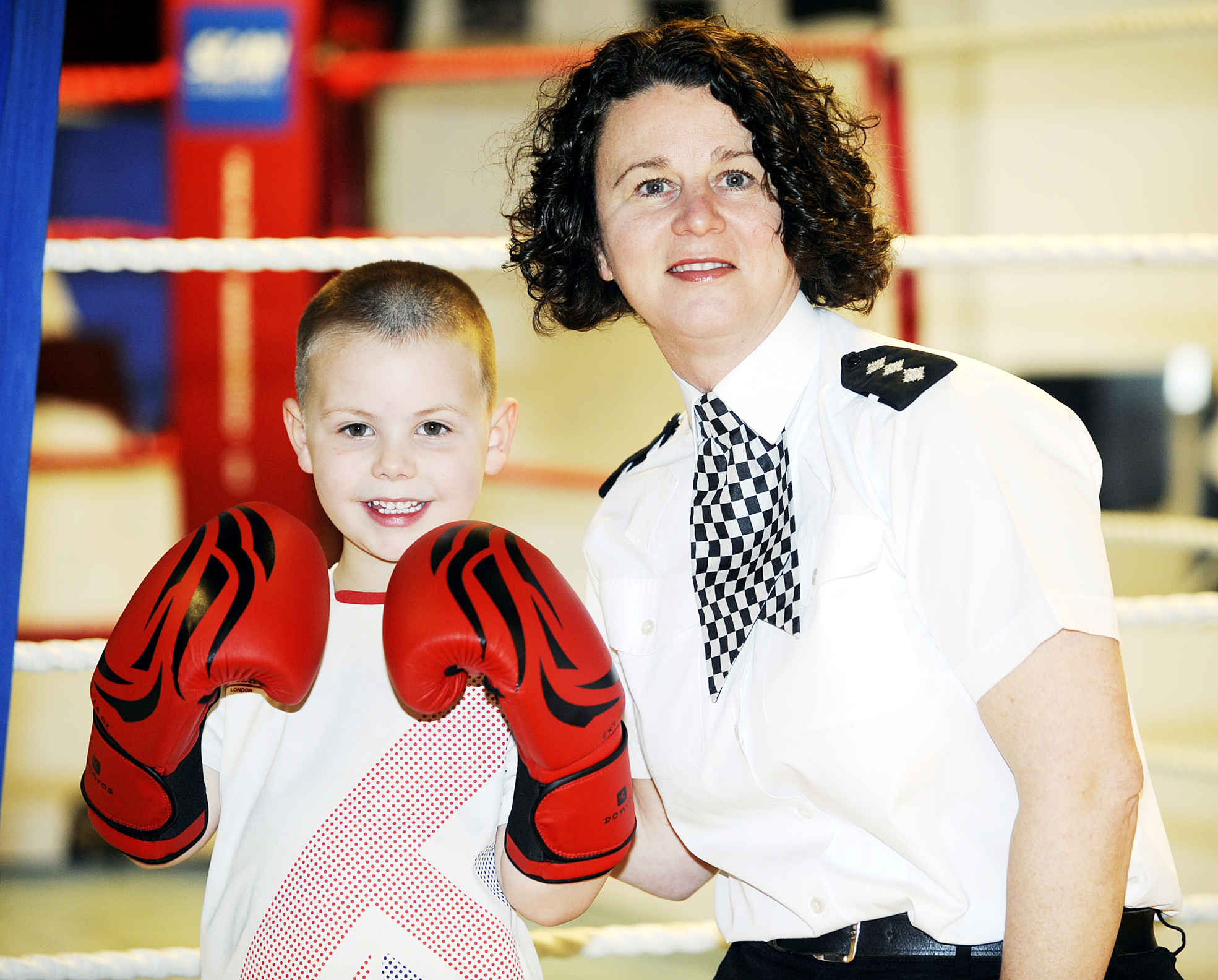 Children learn 'discipline' at police boxing club