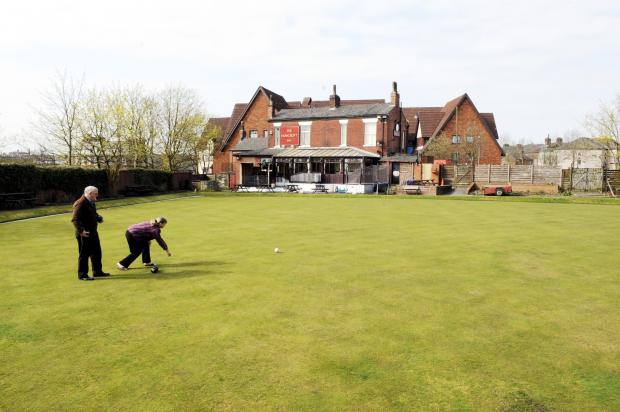 A bowling green looking its best