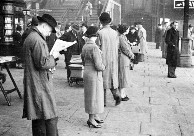 The 1930s Mass Observation captures Bolton people waiting on the platform for a train