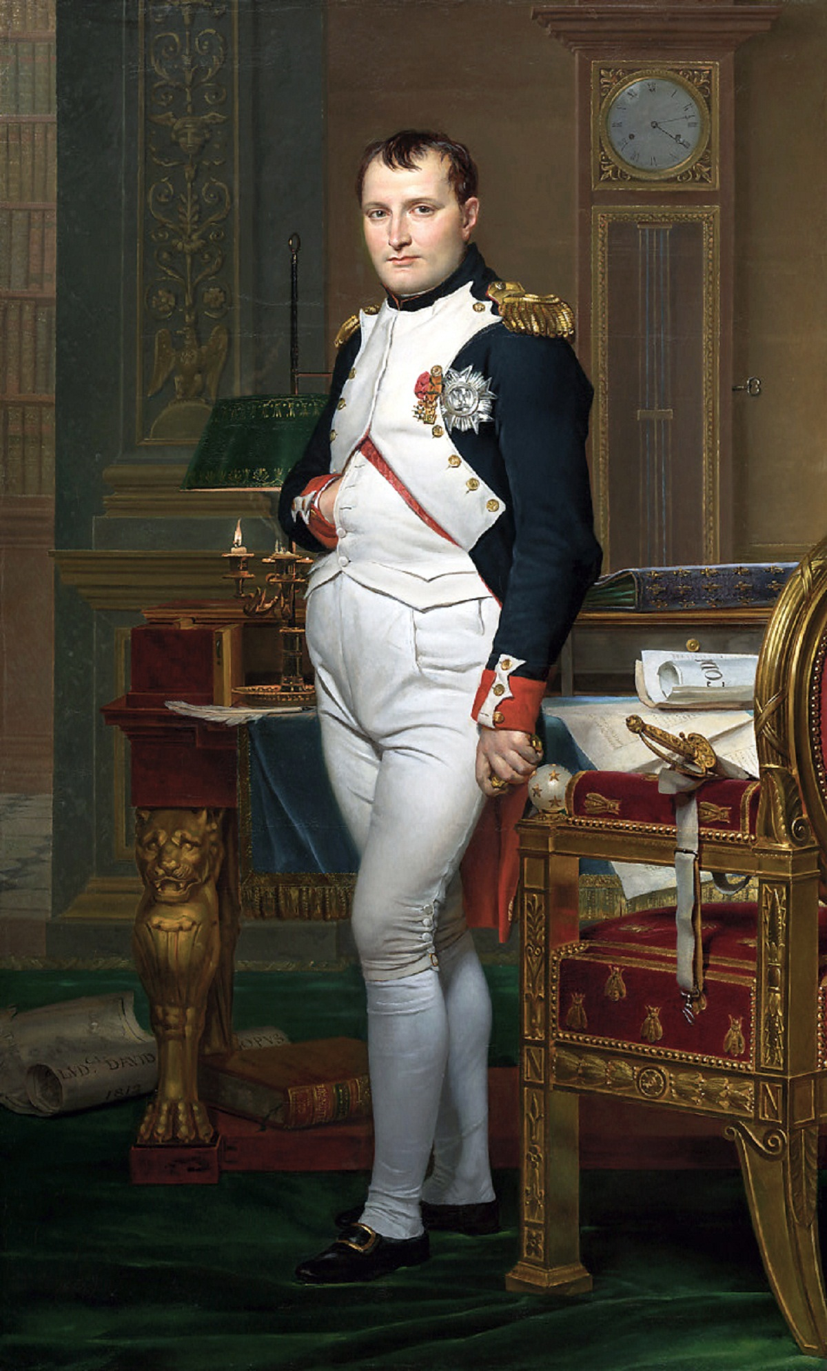 Napoleon in his study. Picture: Jacques-Louis David (public domain), via Wikimedia Commons